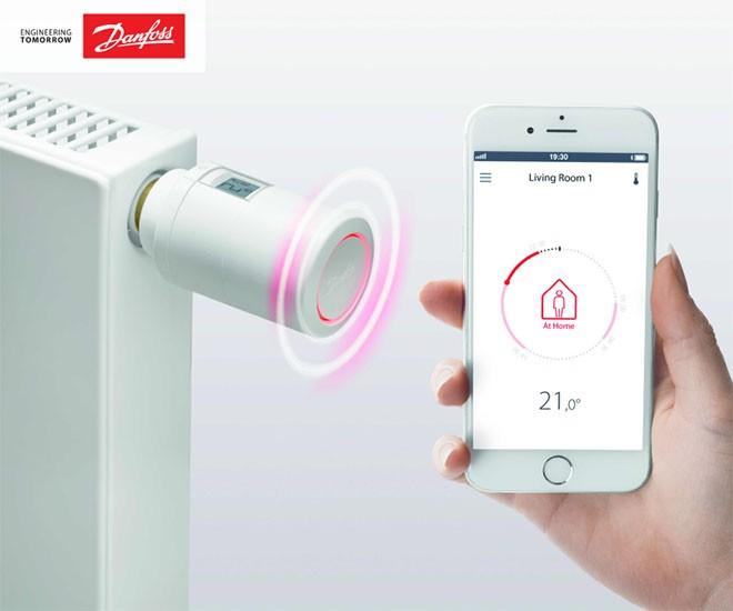 DANFOSS ECO - termostatická hlavica s Bluetooth