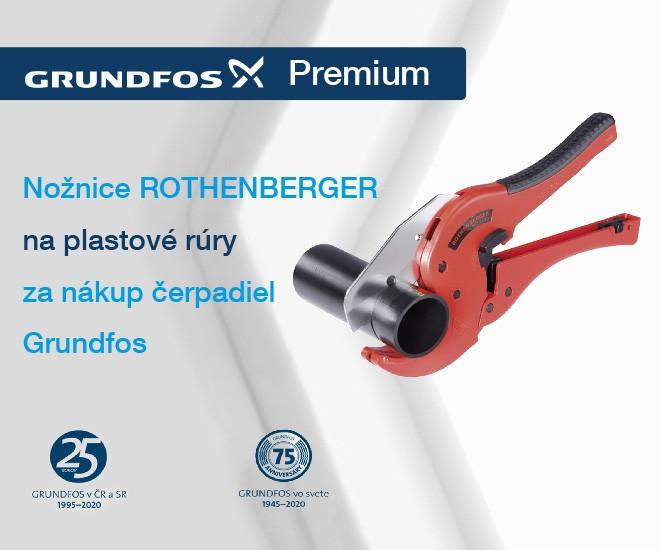 Získajte nožnice Rothenberger za nákup čerpadiel Grundfos
