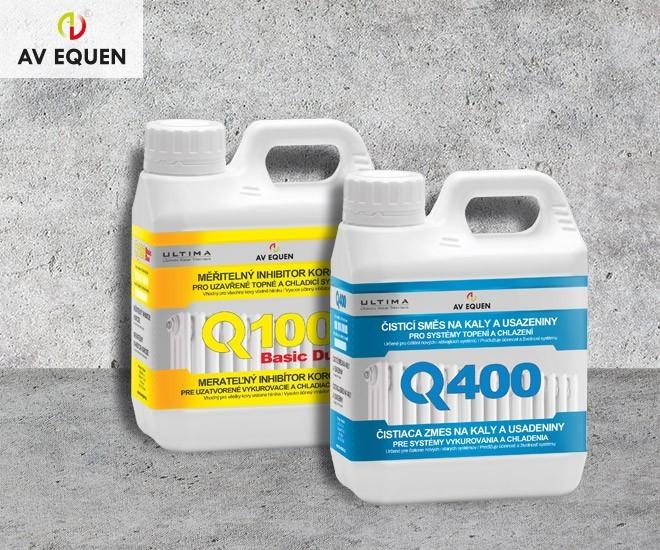 Q100 a čistič Q400 nové inhibitory